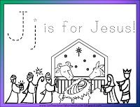 Welcome to the Letter J. Since we're nearing Christmas, I wanted to focus on the reason for the season: Jesus! Hope you enjoy it!