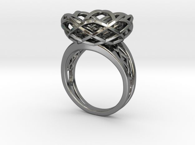 Tennis Seam Curve Twin Ring (002a) by Fluid_Designer