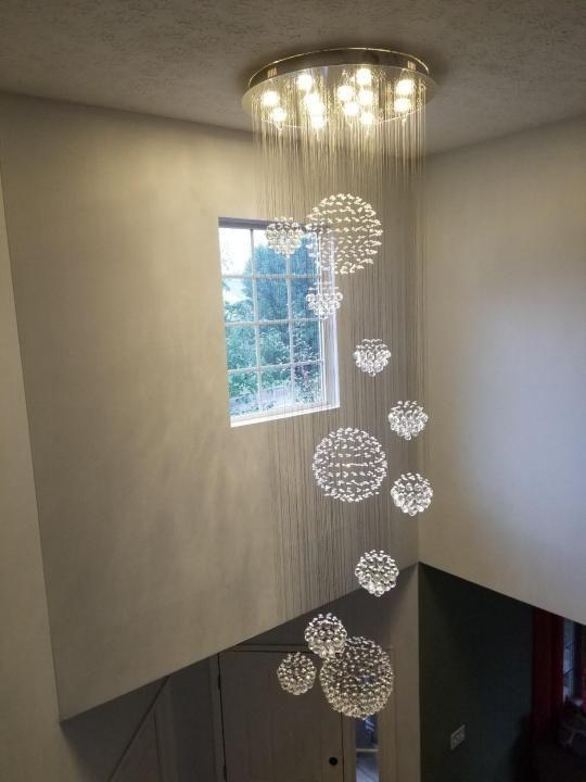 Luxury Solar System Spiral Raindrop Chandelier | New home