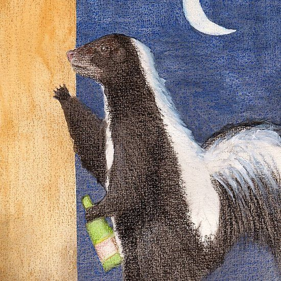 Drunk as a Skunk  An illustration I did for a skillshare class. We were illustrating idioms