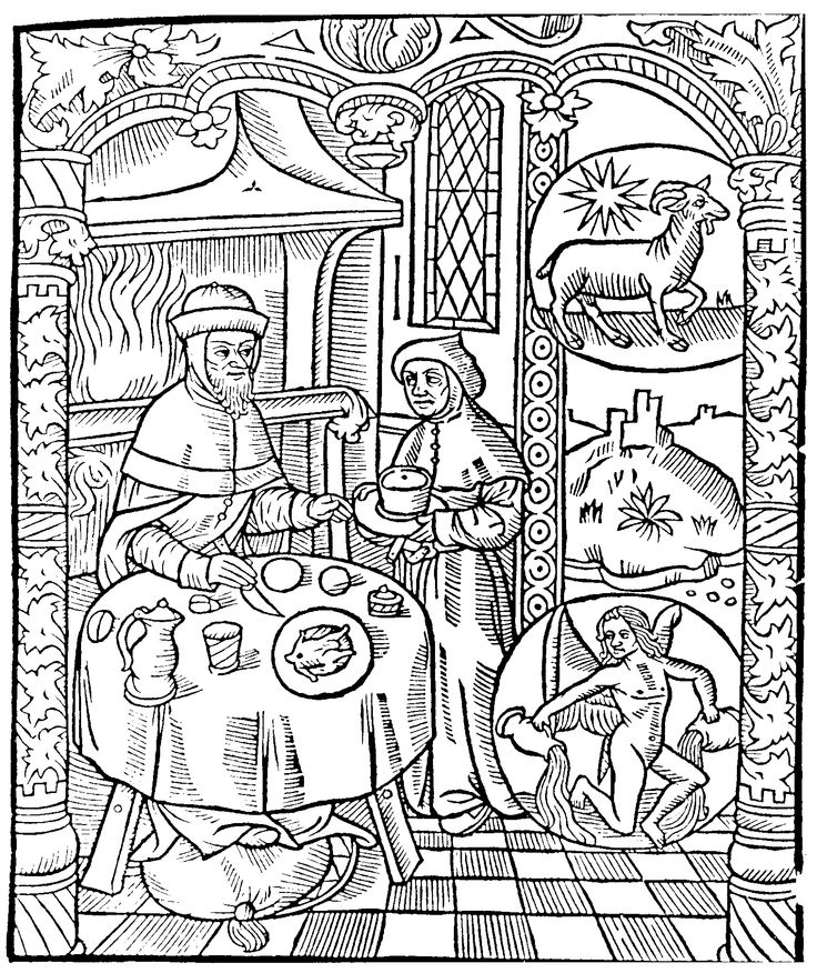 medieval coloring pages feast - photo#6