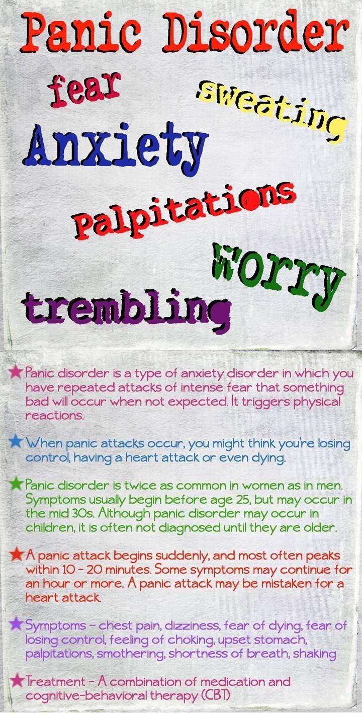 Symptoms of anxiety - Panic Disorder