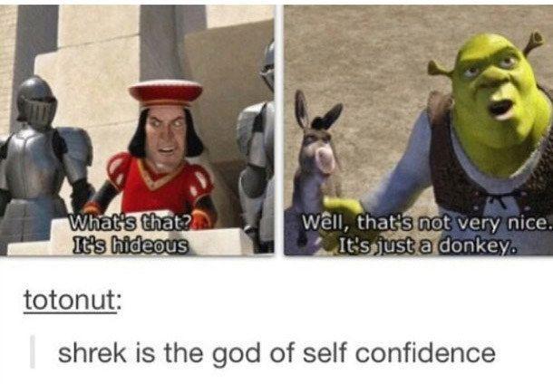 "1. When Shrek was #lifegoals.   Community Post: 16 Tumblr Posts About ""Shrek"" That Are Ogre-Whelmingly Hilarious"