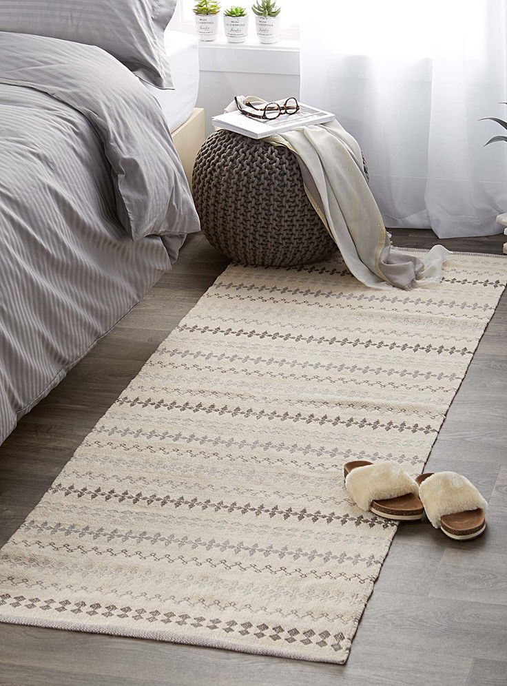 Mekhela jacquard rug 75 x 215 cm | Simons Maison | Neutral basic carpets online | Simons