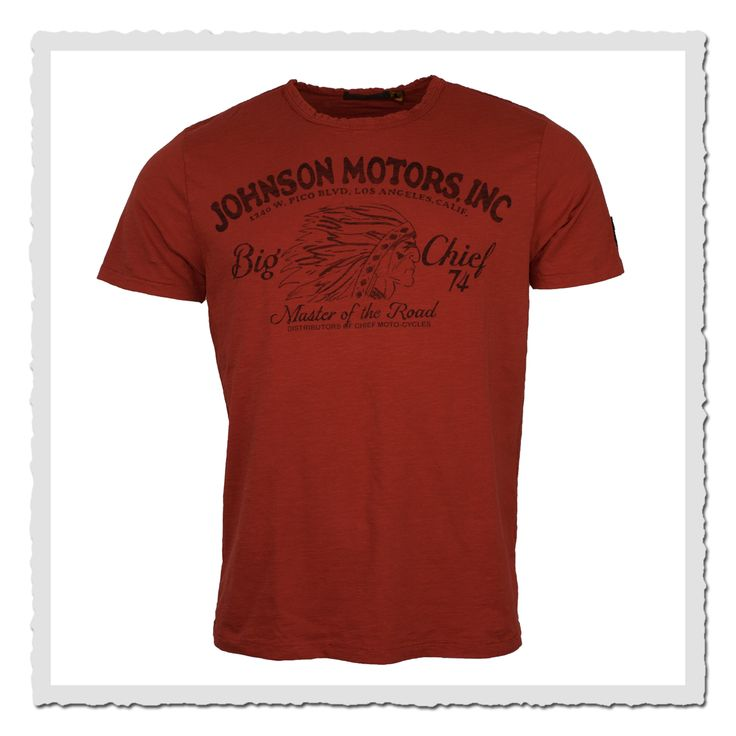 Johnson Motors T-shirt Big Chief primer red
