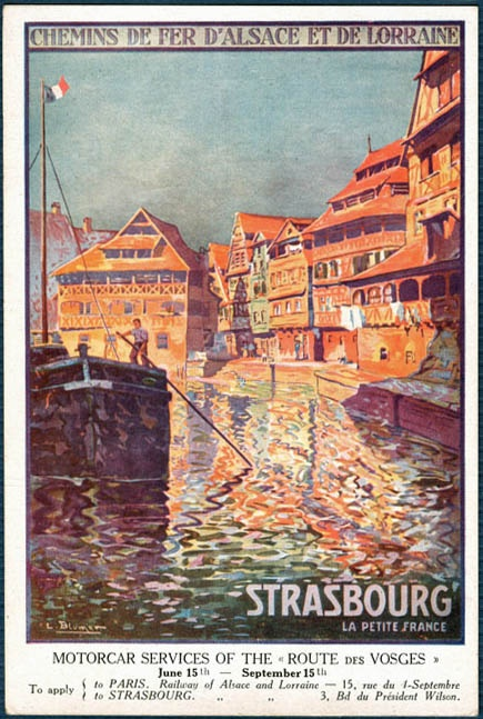 L Blumen, vers 1920 Strasbourg : département du Bas-Rhin, Région : Alsace