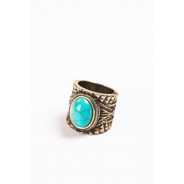 Turquoise Aztec Ring