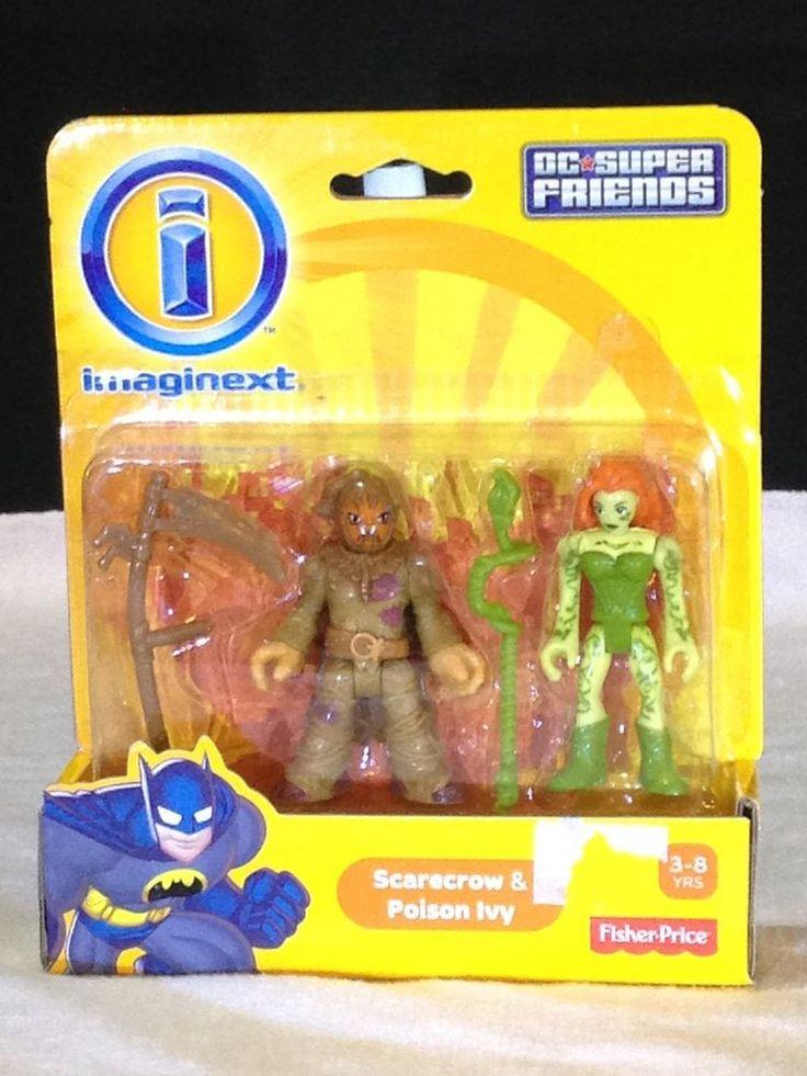 htf NEW BATMAN gotham city DC SUPERFRIENDS imaginext SCARECROW & POISON IVY #Imaginext