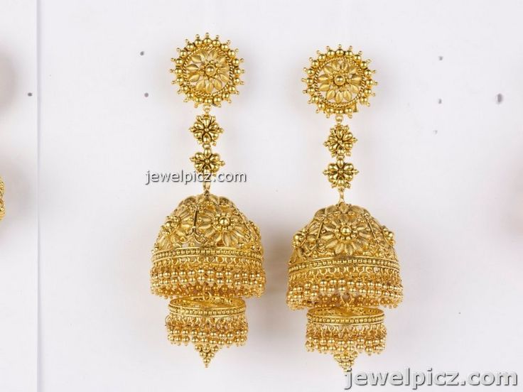 Jhumkas In Gold Cake Ideas and Designs