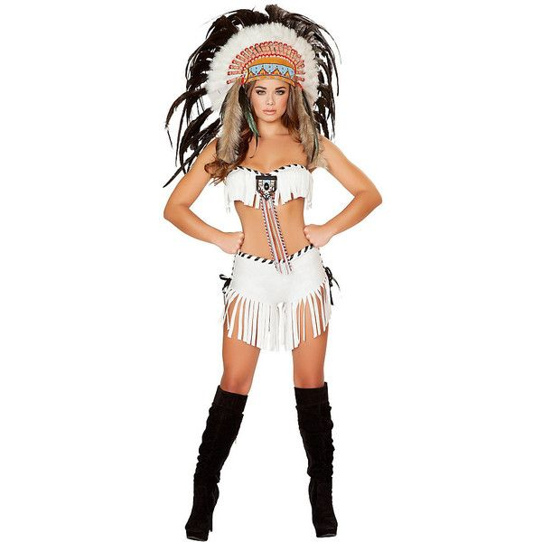 Adult Tribal Princess Sexy Costume (105 CAD) ❤ liked on Polyvore featuring costumes, halloween costumes, multicolor, warrior costume, white princess costume, sexy halloween costumes, adult costume and party halloween costumes
