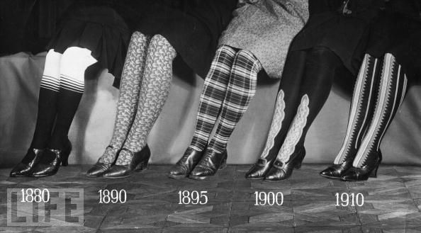 Life Magazine takes a look at stocking styles over the years.