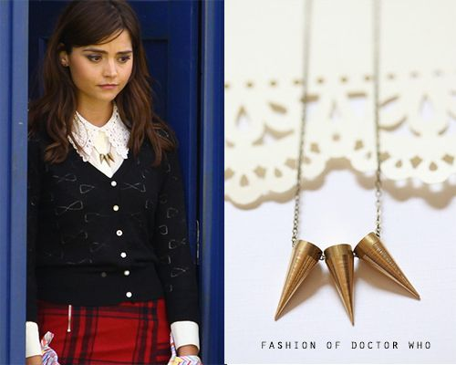 Look For Less Clara Oswald- (filming)Christmas Special 2013 Flirty Duets Clara Inspired Cone Necklace ($13.95)