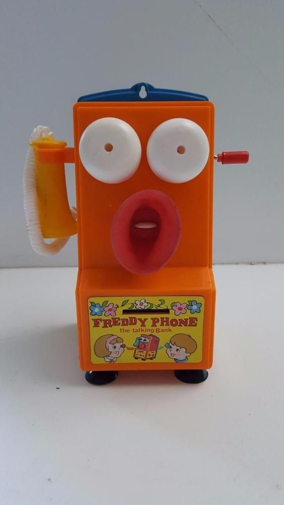 Vintage 1970's FREDDY PHONE the Talking Bank in box *NOT TALKING* #Tomy