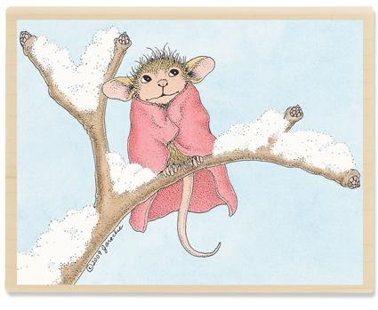 Crafts, Etc! Wholesale - Stampabilities Mice Warm Blanket House Mouse Stamp