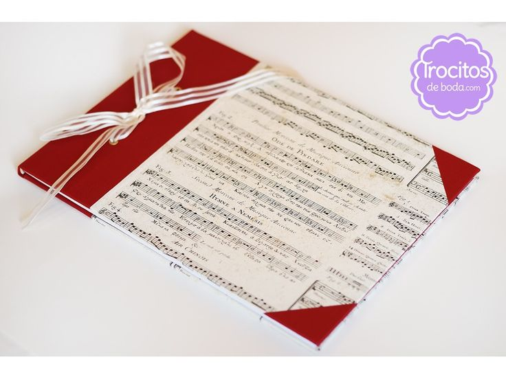 Libro de firmas artesanal. www.trocitosdeboda.com