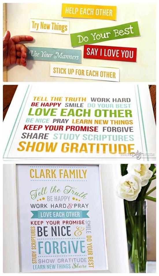 DIY Family Mission Statement Craft Tutorial