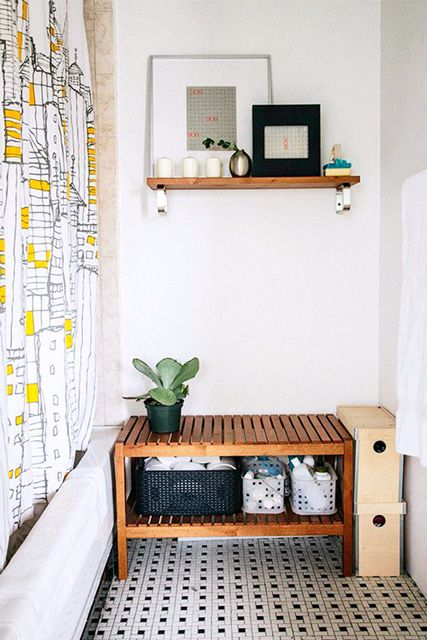 1000 ideas about bathroom bench on pinterest teak - Small storage table for bathroom ...