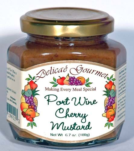 Port Wine Cherry Mustard Recipe — Dishmaps