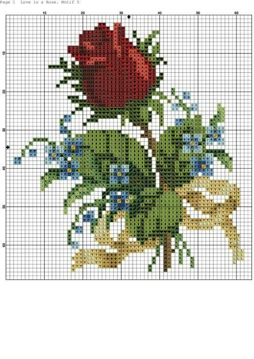 Rose cross stitch.