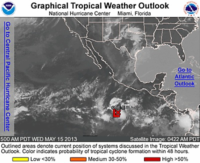 ZCZC MIATWOEP ALL TTAA00 KNHC DDHHMM  TROPICAL WEATHER OUTLOOK NWS NATIONAL HURRICANE CENTER MIAMI FL 500 AM PDT WED MAY 15 2013