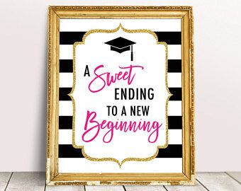 A Smart Cookie Printable Class of 2019 Graduation Sign, College Graduation Decor, Smart Cookie Bar, Black and Pink Grad Party Decor