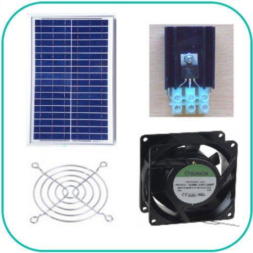 Ventilations kit med solcelle (SOLCELLE og VENTILATOR) KCVM20