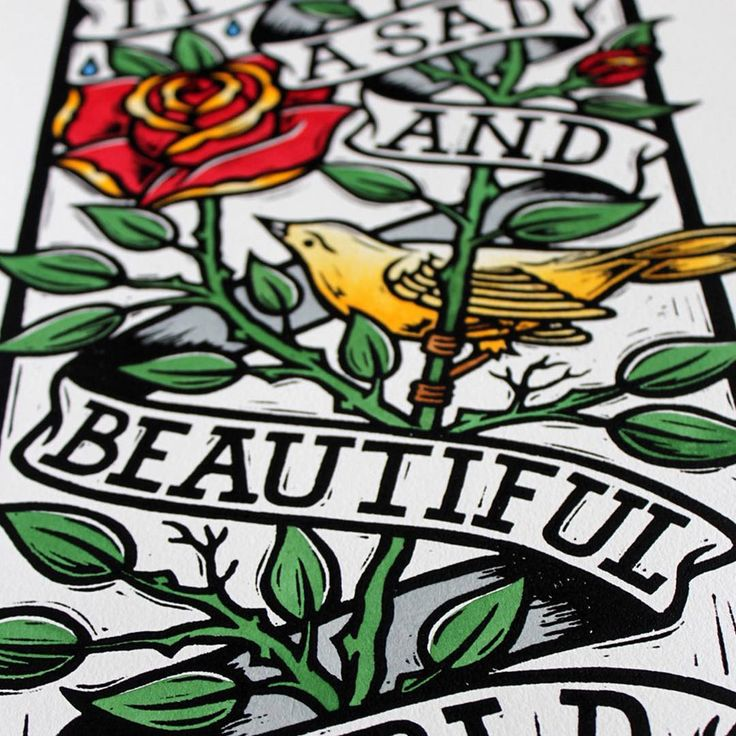 After the #artistproofs of the #handfinished #sadandbeautiful #linocuts sold out during #chrisbourke's #exhibition, we are pleased to release the main #edition in a #limted run of 15 Available here: http://www.nellyduff.com/gallery/chris-bourke/sad-and-b