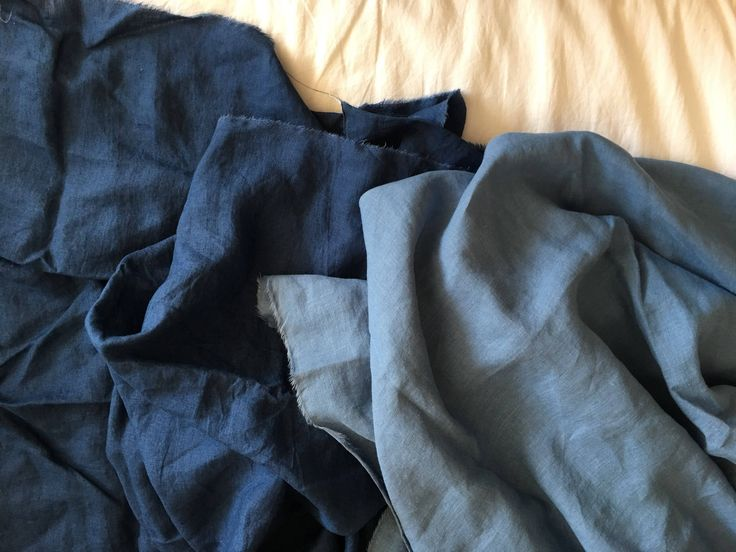 Excited to share the latest addition to my #etsy shop: Extra wide linen fabric 100% pure flax cloth stone washed soft linen medium weight width 110 inch Mediterranean Blue and Navy Blue #supplies #blue #solid #homedecor #linen #flax #sewing
