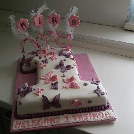 1 şeklinde pasta