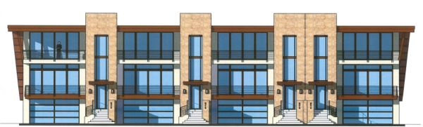 A cluster of duplex and fourplex town homes are proposed on 4.94 acres.