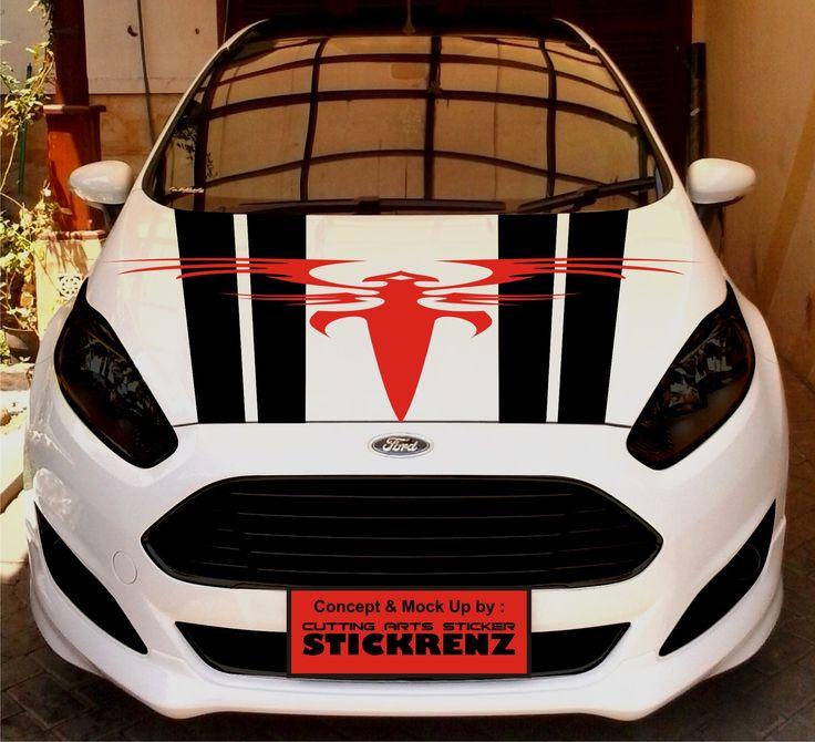Car Custom Hood Cutting Sticker Concept - Fiesta 007
