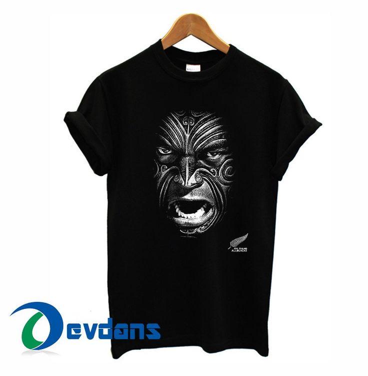 New zealand all blacks rugby face tshirt men women adult