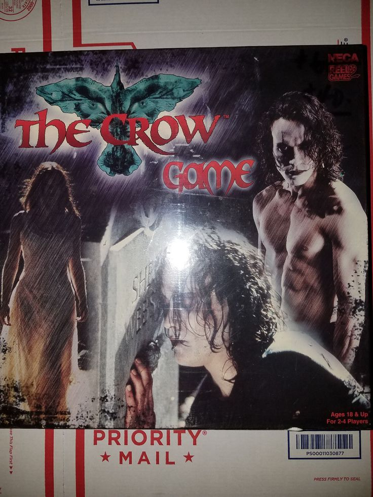 The Crow Board game New in Shrink RARE NECA Reel Games Brandon Lee