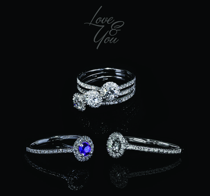Love & You Collection - #digregorio_milano #digregoriogioielli_milano #diamonds #amethyst #whitegold #trilogy #ring #solitary #modular #love #wedding  #jewel #jewellery #finejewellery #luxury
