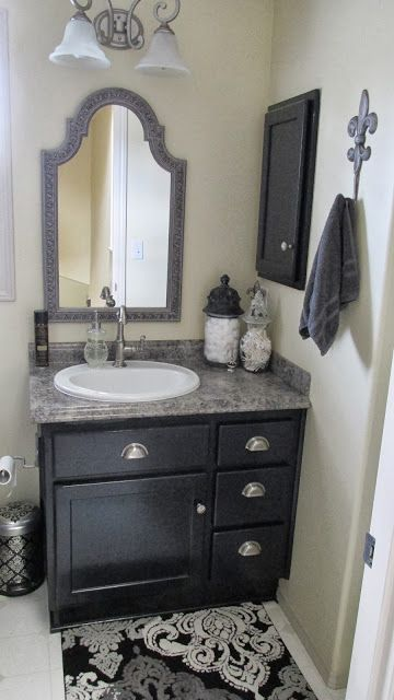 1000 ideas about small grey bathrooms on pinterest - Grey black and white bathroom decor ...