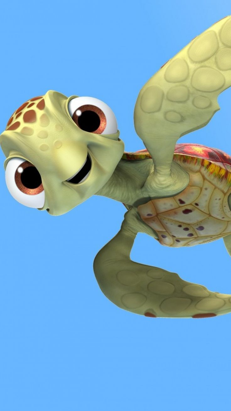 Cute Cartoon Hd Wallpapers For Android 750x1334 Wallpaper Finding Dory Crush Turtle Mr Ray