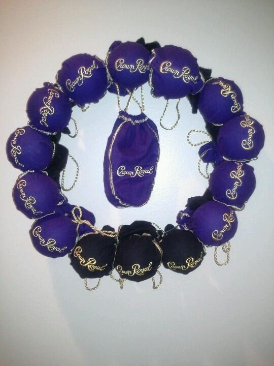 Crown royal wreath
