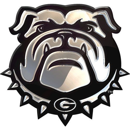 Stockdale University of Georgia Chrome Logo Auto Emblem (Silver, Size ) - NCAA Licensed Product, NCAA Novelty at Academy Sports