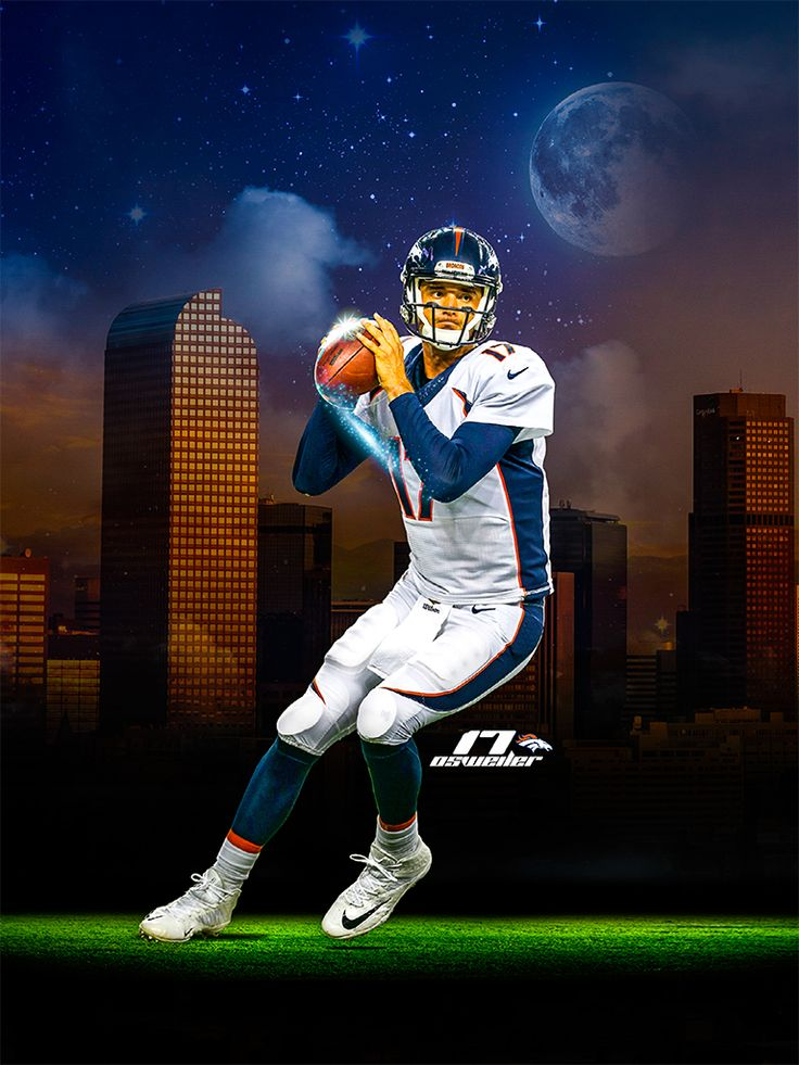 Brock Osweiler Denver Broncos #17 Quarterback! 2015 Kalispell, MT Osweiler was raised by his parents, John and Kathy Osweiler, in Kalispell, Montana, where he attended Flathead High School. Osweiler's older brother, Tanner, played college football in the National Association of Intercollegiate Athletics (NAIA) at Montana Tech. Their father received scholarship offers to play football at Montana and Montana State but ultimately chose to enter the military out of high school.