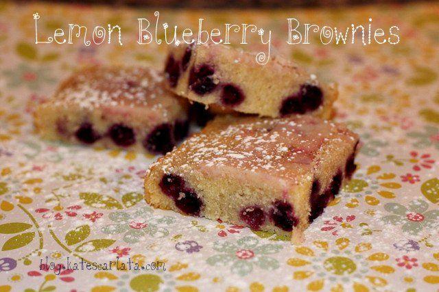 Lemon Blueberry Brownies | Recipe | Fodmap, Blueberries and Brownies