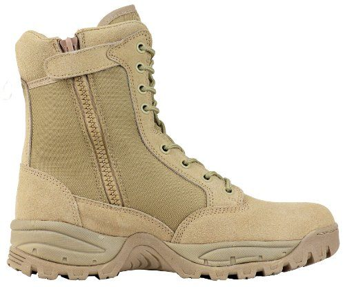 Maelstrom TAC FORCE 8'' Tactical Police Duty Military Boots with Zipper - T5181Z, Tan, Size 10.5M - http://authenticboots.com/maelstrom-tac-force-8-tactical-police-duty-military-boots-with-zipper-t5181z-tan-size-10-5m/