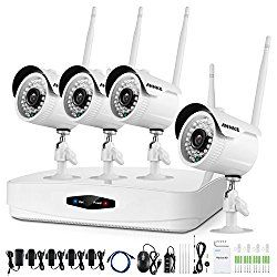 4CH DVR Security SystemAnnke Digital Wireless 4CH DVR Security System with 7 Inch LCD Monitor SD Card Recording and 2 Long Range Night Vision Cameras   #Security #Video