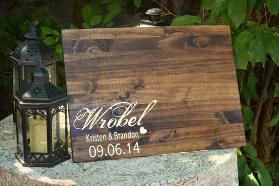 Guestbook Alternative Wood Guestbook rustic by MintageDesigns