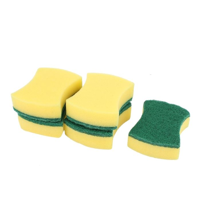 Sponge Scourer Kitchen Dish Cleaning Sponges Scrub Scouring Pads 5 Pcs
