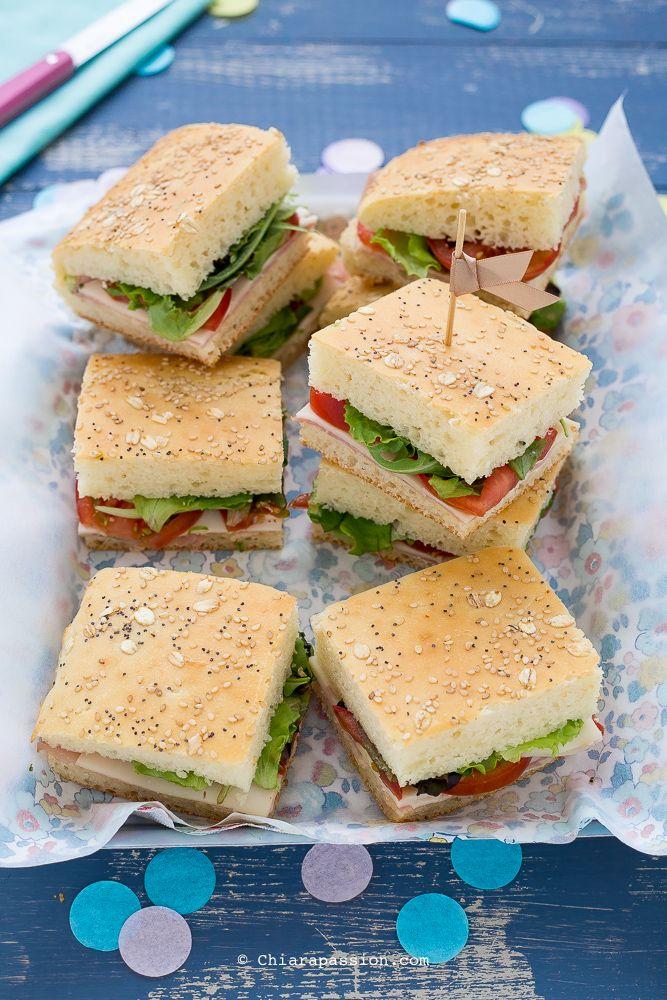 Focaccia tramezzino (Ricetta focaccia Bimby): senza impasto, facilissima ed ottima - recipe focaccia bread Chiarapassion
