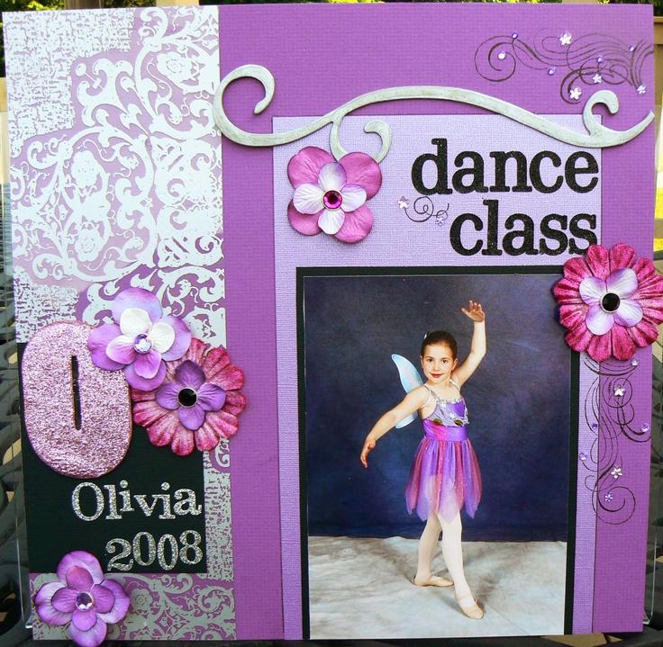 Dance Class: Scrapbook Town, Scrapbook Ideas, Dance Scrapbook, Dance Layout, Scrapbook Layout, Dance Class, Scrapbook Dance, Thetford Scrapbook, Scrapbook Girls