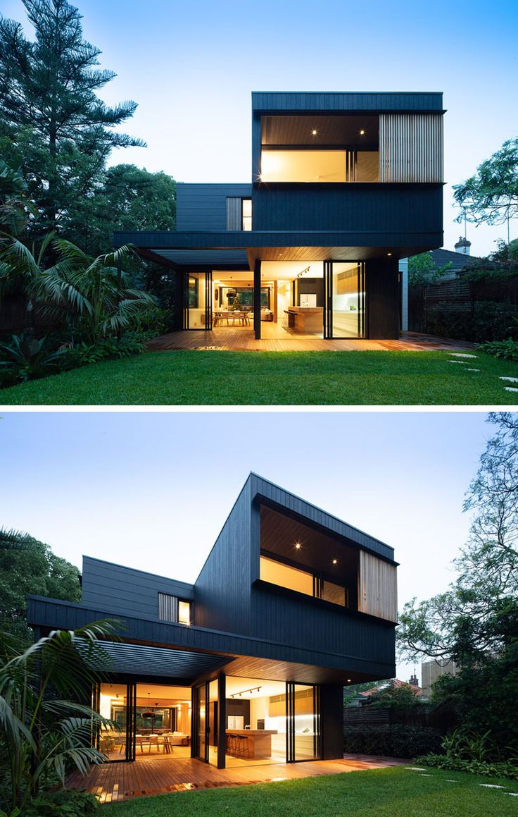 Exterior By Sagar Morkhade Vdraw Architecture: The Exterior Of This House Has Blackened Wood Siding With