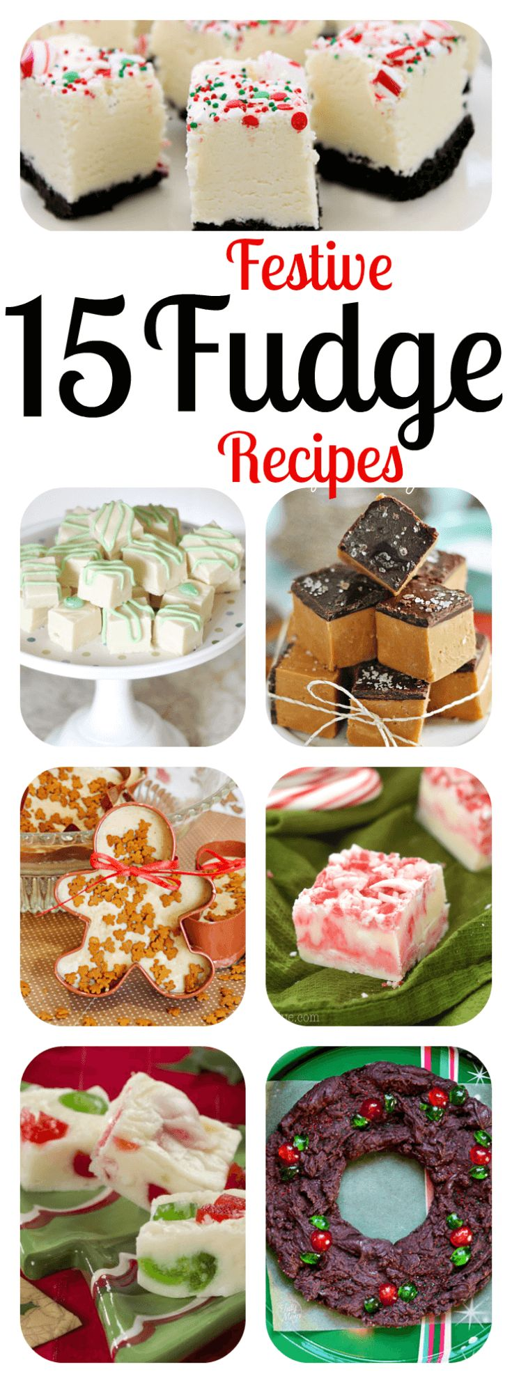 Homemade Christmas Fudge Recipes - the perfect Christmas Gift! The best DIY holiday fudge: Gingerbread, Mint, Candy Cane, Kahlua, Bailey's, Salted Caramel, and more! FIFTEEN 15 RECIPES