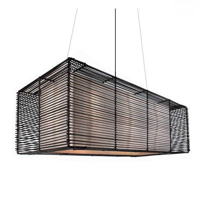 Kai Rectangular Outdoor Hanging Lamp by Hive | LKI-4715OD ...