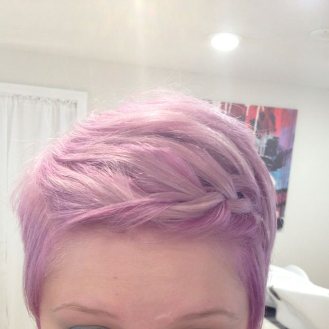 Pastel lilac hair